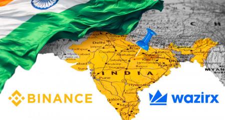 Индийская криптобиржа WazirX подозревается в отмывании денег.